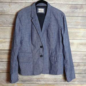 J. Crew Linen Schoolboy Blazer Size 12